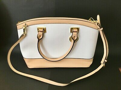 NEW Anne Klein Women's Tote Bag Purse White Beige Short or Long Handle