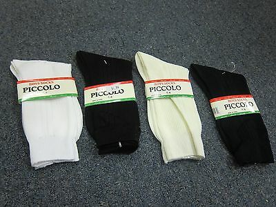 NEW Boys 100% Nylon Tuxedo Dress Socks, White, Black, Ivory,