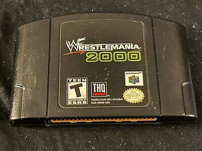 WWF WrestleMania 2000 (Nintendo 64, 1999) Cleaned / Tested / Authentic N64