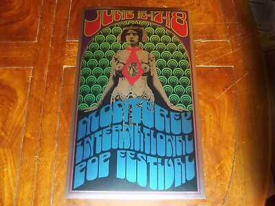 1967 MONTEREY POP FESTIVAL POSTER Foil LITHOGRAPH Authorized 1992 2nd TOM WILKES