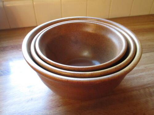 Vintage Monmouth Ovenproof USA Pottery Nesting Bowl Set Perfect