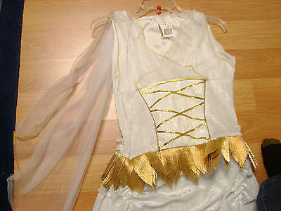 Womens Roman Costume Dress white & Gold Size 12/14  Halloween Disquise elegant - White Gold Dress Halloween