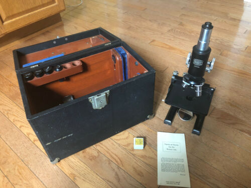 Vintage Antique Doctor / Scientist Spencer Buffalo Microscope with Case