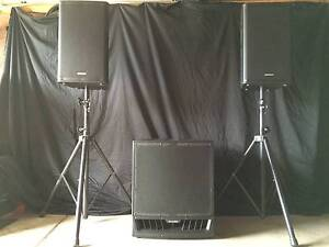Samson RSX112A Pair & M-AUDIO 18 inch Active Subwoofer 4200 watts Fitzroy Yarra Area Preview