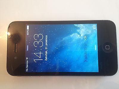 Apple Iphone 4   16Gb Black Locked To Vodafone Uk Smartphone