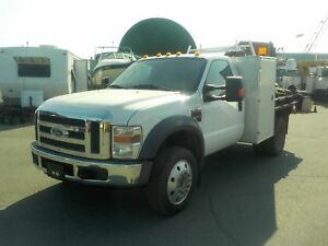 2008 Ford F-450 SD Regular Cab Dually Diesel 6 Foot Flatdeck 2WD