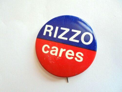Cool Vintage Rizzo Cares Philadelphia PA Mayor Frank Political Candidate Pinback