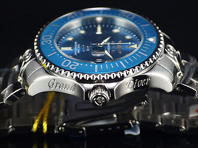 NEW Invicta Men 54mm Grand Diver Automatic High Polished SS TEAL BLUE 300M Diver