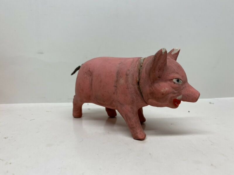 ANTIQUE / VINTAGE PIG CANDY CONTAINER WEST GERMANY PAPER MACHE