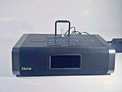 iHome IDL45 Dual Charging FM Clock Radio With Lightning Dock Black - 2018 Model