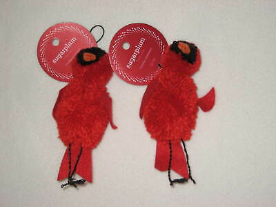 Martha Stewart Christmas Ornaments Pom Pom Cardinal Bird Sugar Plum Dreams Lot