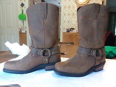 Xelement Crazy Horse Men's Brown Harness Motorcycle Boots