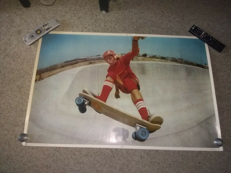 "Vintage Rare 1977 COOKIN Skateboard Poster 23""X 35"" Skateboarding Skate Park..."