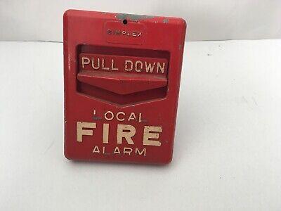 Vintage Rare Simplex 4251-1 Fire Alarm Pull Station Chevron