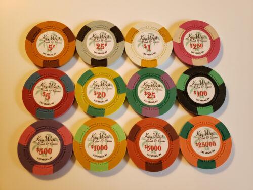 Key West Resort & Casino chips - chip-chip sample set