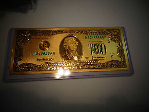 24-KARAT-99-9-GOLD-USA-2-DOLLAR-BILL-GREEN-SEAL-EACH-IN-RIGID-PVC-BILL-HOLDER