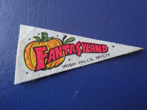 Mini Souvenir Pennant, Fantasyland, Irish Hills, Mich. 4 Inches