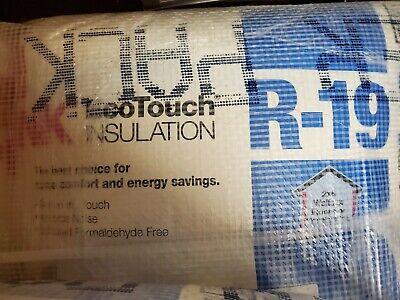 Owens Corning Ecotouchunfaced Fiberglass Insulation 23x 39.2ft R-19 -6 Bags