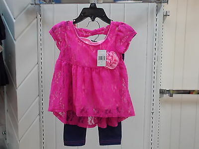 Toddler Girls Pogo Club Of Ny Size 2T   3T  36 Dress Top W T Leggings 2Pc  Set