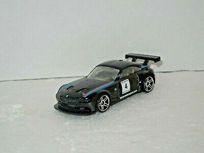 2011 Hot Wheels BMW Z4 M Motorsport Black BMW Motorsports Rollcage 1:64 sc.
