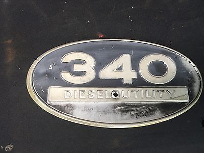 International Harvester 340 Diesel Utility Aluminum Side Emblem Ih Tractor