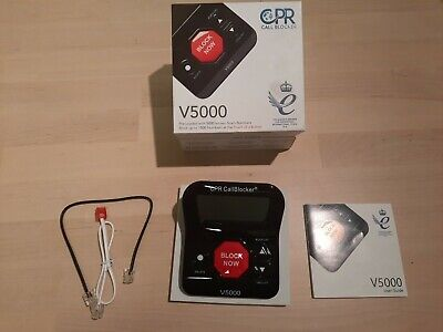 CPR V5000 Call Blocker Pre-loaded with 5000 Robocall Scams # Blocks