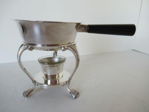 Silver plate warmer (sauce/fondue)