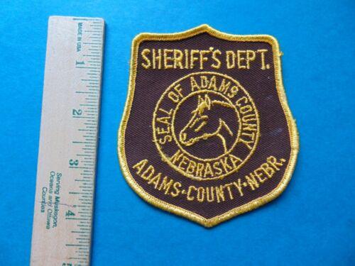 ADAMS COUNTY NEBRASKA SHERIFF DEPARTMENT PATCH