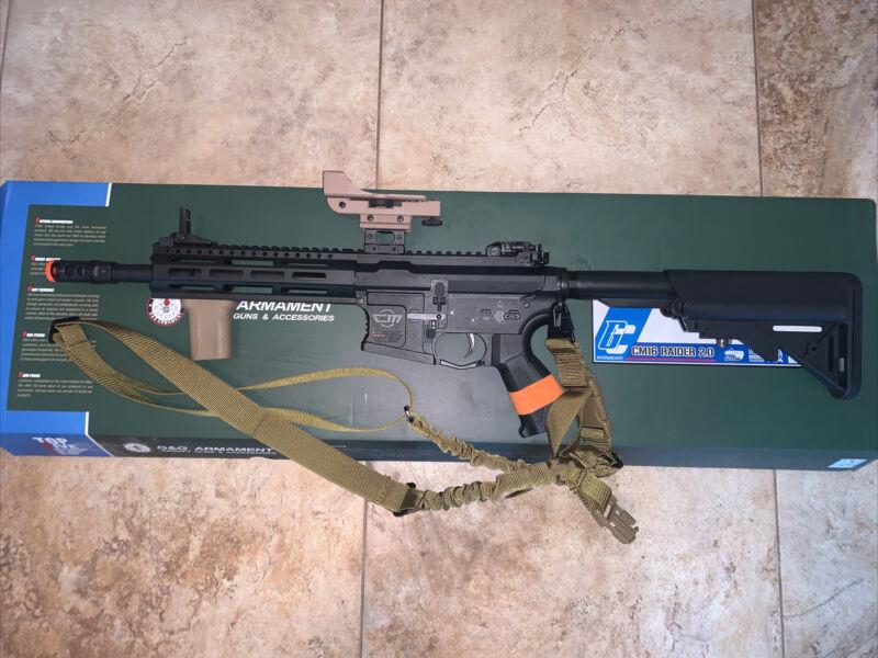 G&G CM16 Raider 2.0 Airsoft Rifle w/Accessories
