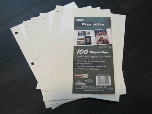 PHOTO ALBUM REFILL PAGES LM-100 LM-100D LM-100W 10 MAGNETIC PAGES 5 SHEETS