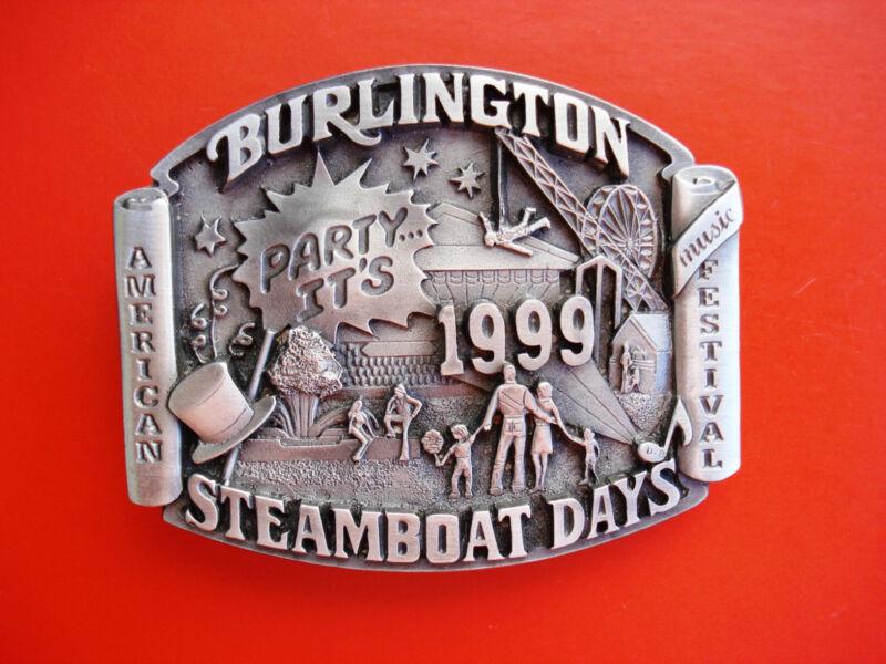 1999 Siskiyou Steamboat Days American  Music Festival Burlington Belt Buckle