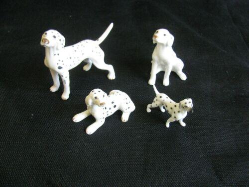 Dalmatian Dog Figurines ~ 4 Ceramic