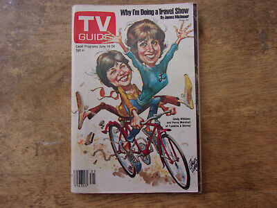 "TV guide  ""Laverne & Shirley"" issue Jun.18-24 1977 Philadelphia New Jersey."