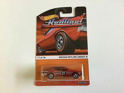 Hot Wheels Heritage Redline Series 11 of 18 Nissan Skyline 2000GT-R (Red)