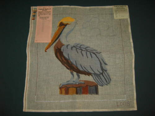 """Needlepoint Canvas Only - PELICAN - 14""""x14"""" - very good condition"""