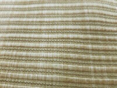 Brunshwig fils stripe cotton brown upholstery fabric 3yds