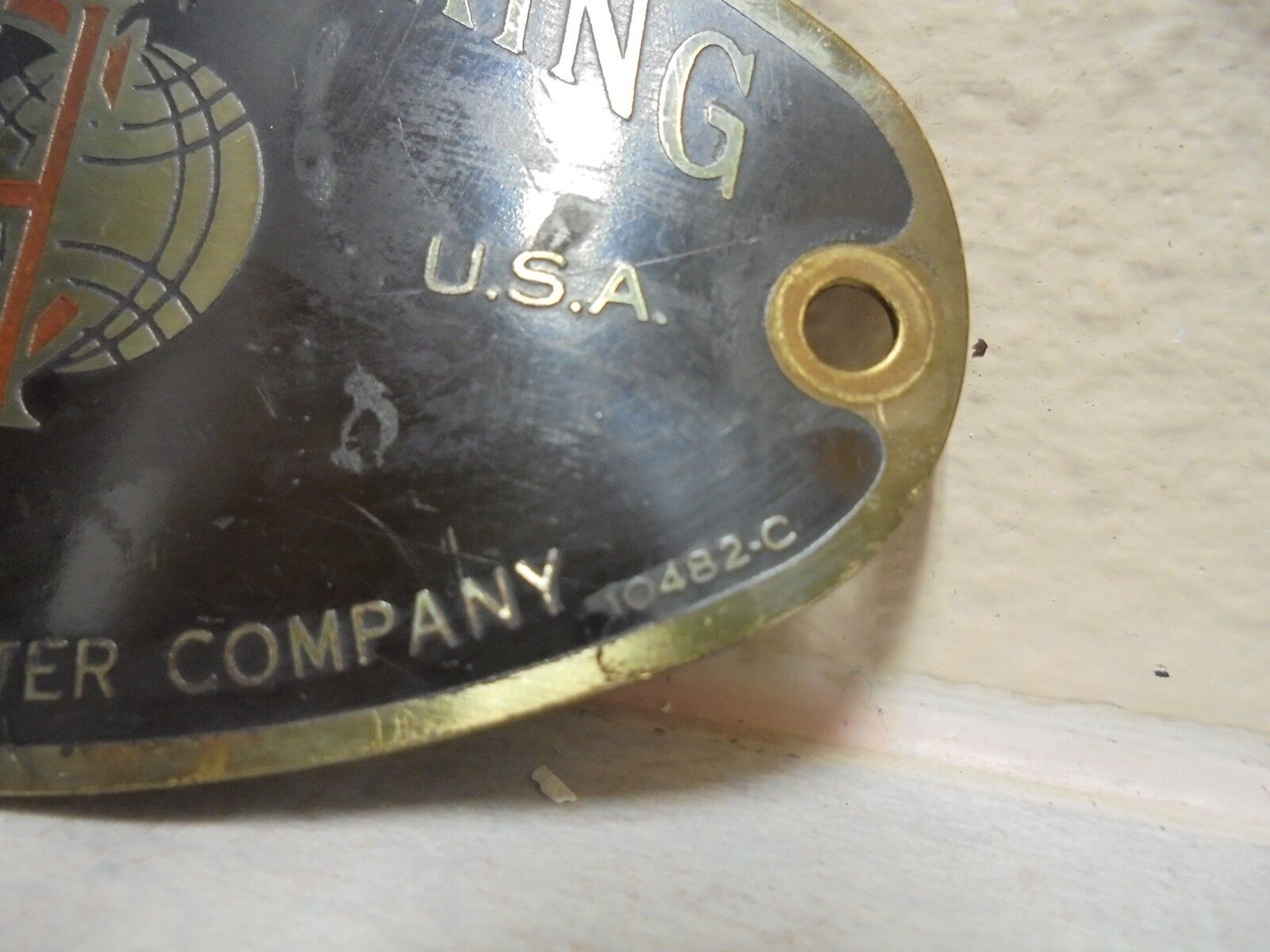 ::International Harvester McCormick-Deering Cream Separator Tag 10482-C