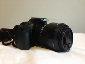 Canon T3 DSLR with Sigma 18-250 superzoom