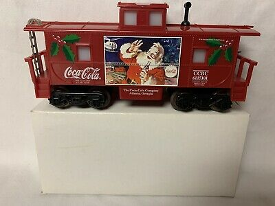 ✅K-LINE BY LIONEL COCA COLA CHRISTMAS SANTA LIGHTED CABOOSE FOR ENGINE TRAIN SET