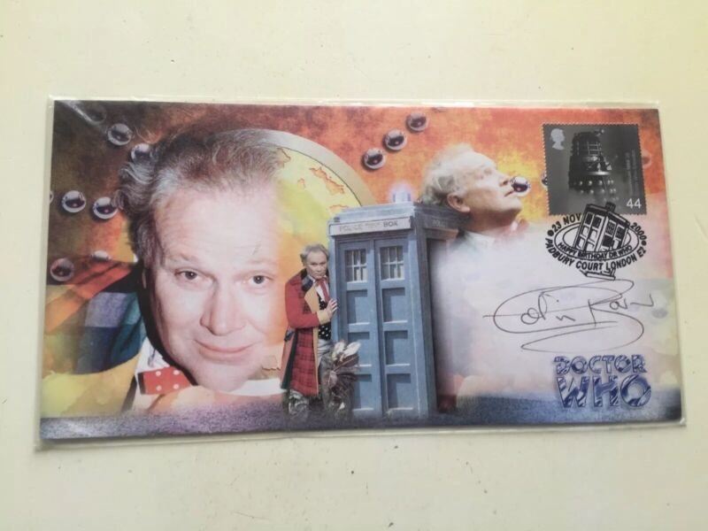 Colin Baker Doctor Who Signed Stamped Stamp Cover