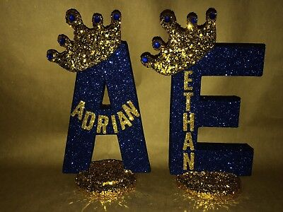 Sparkly Crown Royal Party Decoration Any Letter For Royal Theme Glitter crown