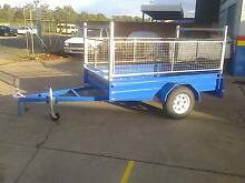 8X5 HEAVY DUTY TRAILER, CAGED, MOWING, TRADESMAN, GARDENING, BOX Thorneside Redland Area Preview