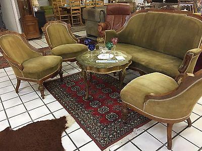 Louis Philippe Couch 3 Stühle 1 Sofa Gründerzeit  Antik Jugendstil Sitzgruppe