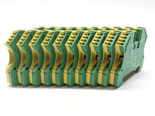 Allen Bradley 1492-JG6 Yellow Green Terminal Block LOT OF 10