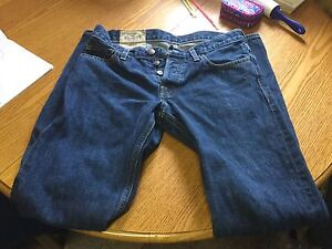 Men's hollister button fly jeans size 30x32.