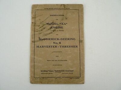 Vtg Mccormick Deering Xa Engine For No 8 Harvester Thresher International 1927