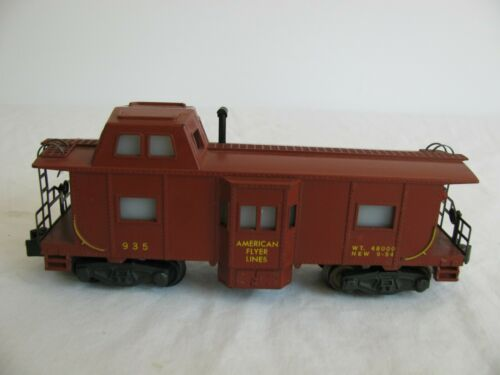 Vintage 1957 American Flyer S Scale Lighted AFL Bay Window Caboose #935 EX