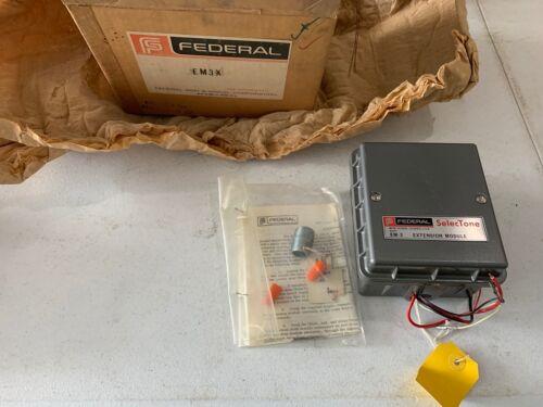 Vintage Federal Signal SelecTone EM-3 Extension Module, Brand New Original Box