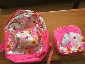 Children's place unicorn back pack and lunch pail