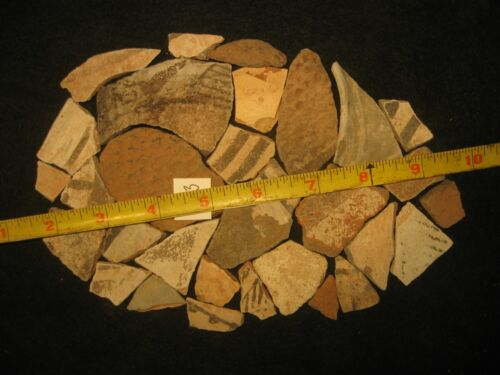Arizona Anasazi Pottery Shards, Prehistoric American Indian Artifacts Lot, #PS3